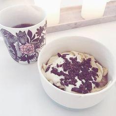 Banana Chocolate Oat Porridge  to die for