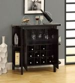 Cayenne Compact Bar Cabinet with Side Shelves