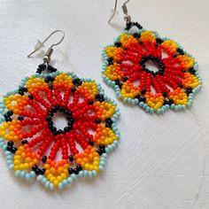 Arte Huichol Crochet Earrings, Etsy Seller, Create, Jewelry, Indigenous Art, Ear Jewelry, Crystals, Activities, Jewels