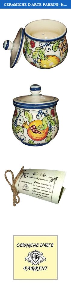 CERAMICHE D'ARTE PARRINI- Italian Ceramic Chilli Pepper Peperoncino Jar Holder Hand Painted Made in ITALY Tuscan Art Pottery. ( Notes : we need 10 days to make this item)--Ceramic Chili Pepper Jar . Decorations : Branches of lemon , pomegranates, figs on a white ivory frame with blue curls of old. Net weight Kg.0,600, Dimensions: 4,33 inch x 4,33 inch-- By purchasing directly from the manufacturer of Tuscan craft, you can ask if you want, any other customization, or you can buy now so as…