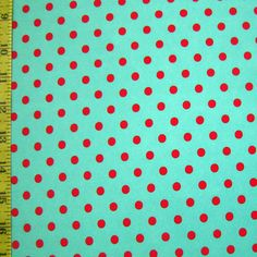 teal and red polka dot