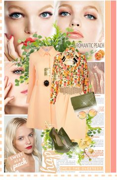 """""""Peach"""" by anne-irene ❤ liked on Polyvore"""