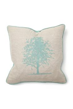 Classic Concepts - Illusion linen/turquoise tree pillow
