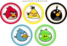 Kit de Angry Birds para Imprimir Gratis. Cumpleaños Angry Birds, Festa Angry Birds, Angry Bear, Party Printables, Free Printables, Bird Birthday Parties, Bird Free, Party Kit, Party Ideas