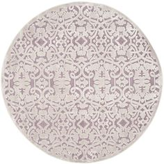House of Hampton Mauve/Violet Area Rug Rug Size: Round 6'7""