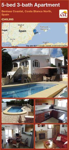 5-bed 3-bath Apartment in Benissa Coastal, Costa Blanca North, Spain ►€349,995 #PropertyForSaleInSpain