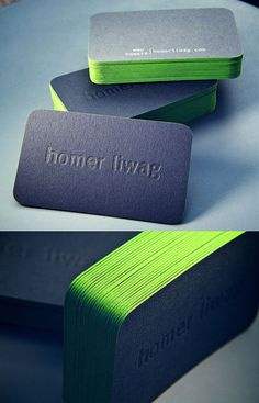 Brilliant Edge Business Card | Business Cards | The Design Inspiration