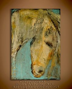 Horse painting by Erin Ashley...love the detail and textures in this piece