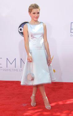 Kiernan Shipka in Oscar de la Renta - Emmys 2012