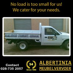 Albertinia Meubelvervoer caters for all sizes of transportation and no load is too small for us. From farm equipment to household goods, you say where, We will get it there! #transport #removals #storage
