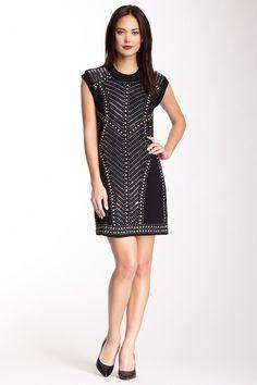 Nicole Miller Embellished Heatpress Jersey Dress by Non Specific on @HauteLook