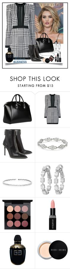 """""""get the look"""" by dijana1786 ❤ liked on Polyvore featuring Whiteley, Givenchy, Balmain, Alexander Wang, Suzanne Kalan, MAC Cosmetics, Smashbox, Alexander McQueen, Bobbi Brown Cosmetics and Edward Bess"""