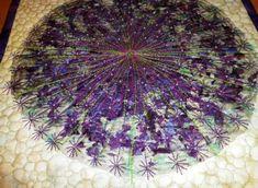 Art Quilts Techniques | Thread: 'Allium' - a confetti art quilt
