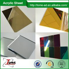 Gold Color Acrylic Mirror Sheet/Acrilic Plastic Mirror Sheet