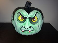 Vampire Painted Pumpkin