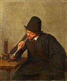 Adriaen van Ostade - Een rokende man