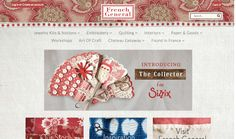 The NEW French General website.  Visit it for more red, white and, blue fabric and design goodness.