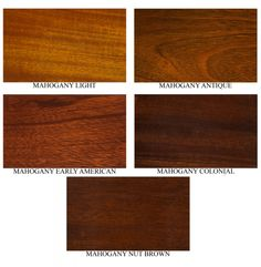 Diffe Mahogany Colors Stain Fs347a Wood Color