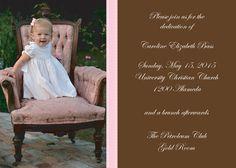 Pink Ribbon Photo Invitations