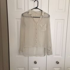Urban outfitters silence + noise blouse in size S See through material. Urban Outfitters Tops Blouses
