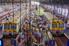 The train is the most popular and quickest way of commuting in Mumbai, and the local railway transports an astonishing 8 million commuters per day!