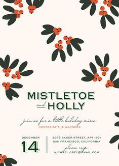 Mistletoe + Holly // Minted // Emily Ranneby