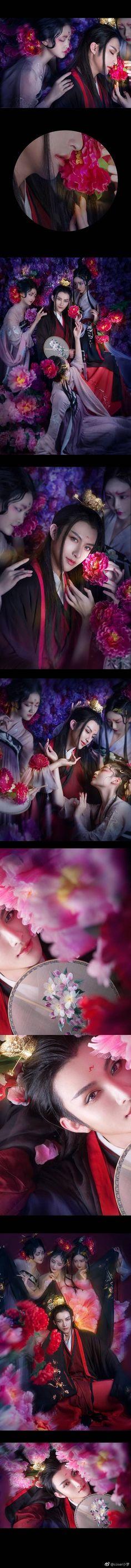 — Phù Ảnh Lưu Hoa — Âu Dương Tu – Nam thần hoa mẫu đơn, Mẫu đơn kỳ thiện lạc đô xuân, bách hủy thiên hoa lãng cưu phân Quốc sắc tiên minh thư nộn kiểm, tiên quán trọng điệp tiễn hồng vân Cose…