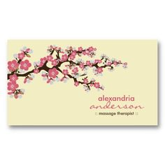 20 best cherry blossom business cards images on pinterest cherry cherry blossom custom business cards pink colourmoves