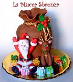 http://lamuccasbronza.blogspot.com  Christmas cake  Panettone decorato