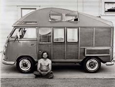Paul Herzoff photoshas 56 prints in the Smithsonian online archives from 1970 – 1973 -These beautiful photographs feature old housetrucks (trucks and buses made into living spaces), craftsmen and the families who dwell within, mostly in California.""