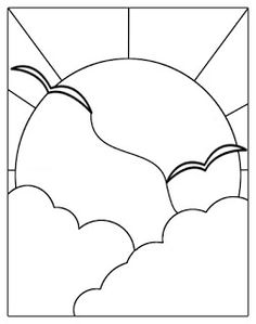 Stained Glass Patterns Free, Stained Glass Quilt, Faux Stained Glass, Stained Glass Designs, Stained Glass Projects, Mosaic Patterns, Stained Glass Windows, Art Patterns, Easy Mosaic