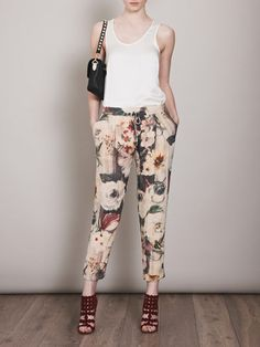 Stitch fix fashion. I own 3 printed pants, but don't own a mostly white one!