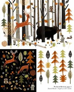 Nice for Christmas: forest illustrations by Daniel Roode
