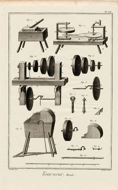 Wood Turner French Antique Print Wood by VintageDecorPrints, $85.00