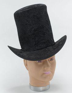 Top Hat Velvet Black (Hats) - Male - One Size