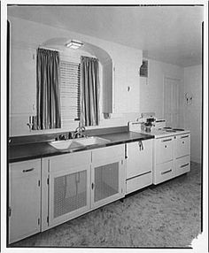 antique kitchen sinks 1920s 1930s kitchen from library of congress by whitewall 1283