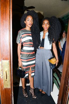 Partying Through New York Fashion Weekend  - TK Wonder and Cipriana Quann at Tome's post-show dinner, Sep 2015