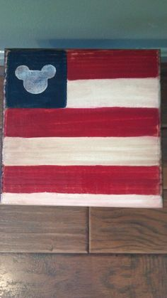Primitive Patriotic Mickey Mouse