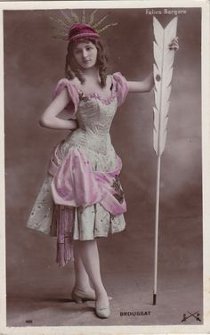 Folies-Bergere Stage Performer Broussat with Arrow...circa 1908 by decorables on Etsy