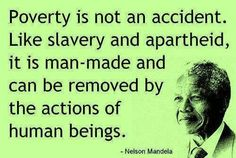 Nelson Mandela on poverty