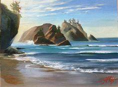 "Daily Paintworks - ""shi-shi beach"" - Original Fine Art for Sale - © Tatsiana Mikhailava"
