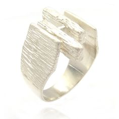 Woodgrain - Sterling Silver Ring