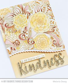 Hi everyone! I want to share my card My Favorite Things   Januari New Release Countdown Day 1.  I play with gorgeous background stamp called...