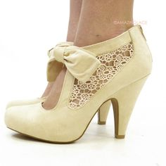 ivory lace shoes cute pretty vintage inspired