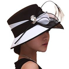 e31f85dd19f00 Shop a great selection of Koola Women s Chiffon Sun Hats Vacation Beach  Spring Summer Derby Black Hats. Find new offer and Similar products for  Koola ...