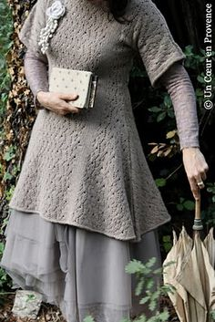 sweater smock - this is so cute! You could make this from any regular pattern, just add to the lenght