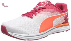 Puma Speed 300 IGNITE Wn, Chaussures de course femme, Blanc (White/Rose Red/Fluo Peach), 42.5 - Chaussures puma (*Partner-Link)