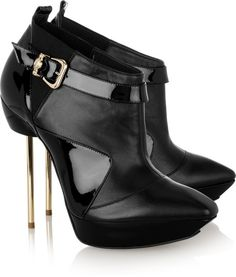 VERSACE  Black Pinheeled Nappa Leather Ankle Boots