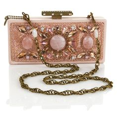 Mary Frances Rose Colored Beaded Bag