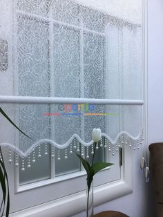 Hanging Curtains, Curtains With Blinds, Window Curtains, Modern Window Treatments, Recycled Home Decor, Shades Blinds, Window Dressings, Curtain Designs, Deco Furniture